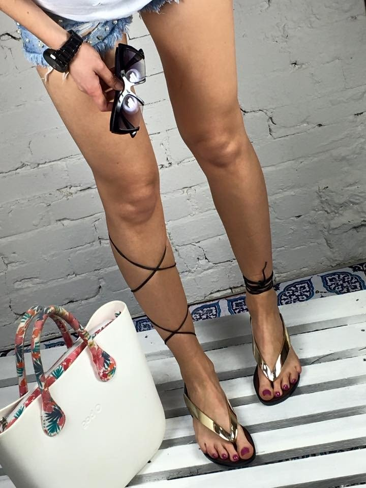 LU BOO LACE UP  GLADIATOR SANDALS