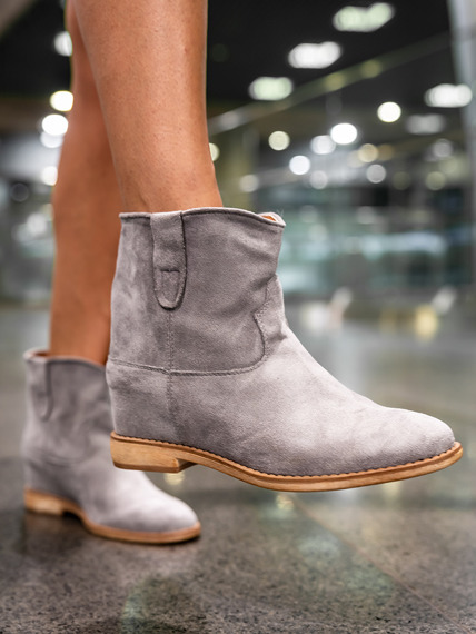 Classic grey ankle boots