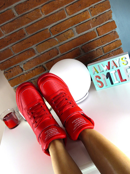 Red Sneakers Wedges Brooklyn