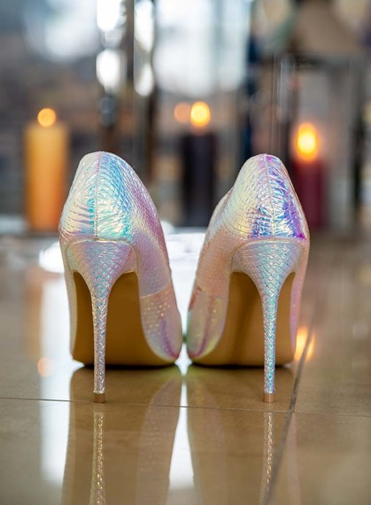 Pink Shiny Mermaid High Heels Glam