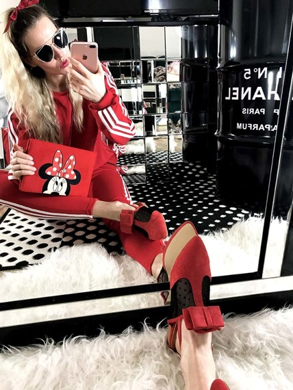 Red Slingback shoes Mule