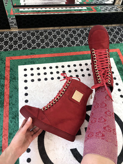 Red Sneakers Trainers Cassi