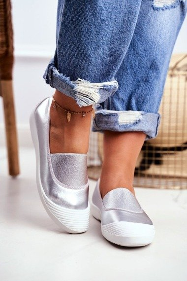 Sneakers On Slip On Sneakers Silver Justy
