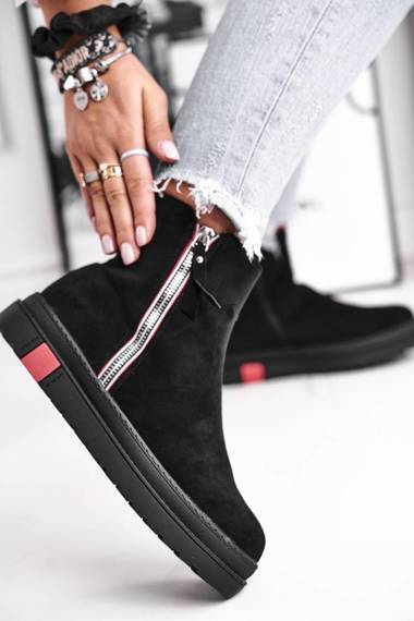 Women's Boots Eco Suede Black Come Back