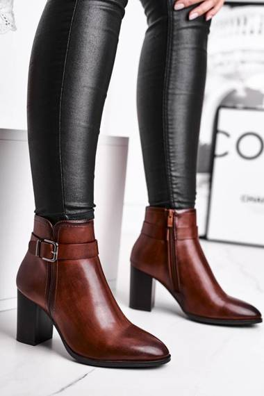 Women's Boots On High Heel Sergio Leone Brown BT509