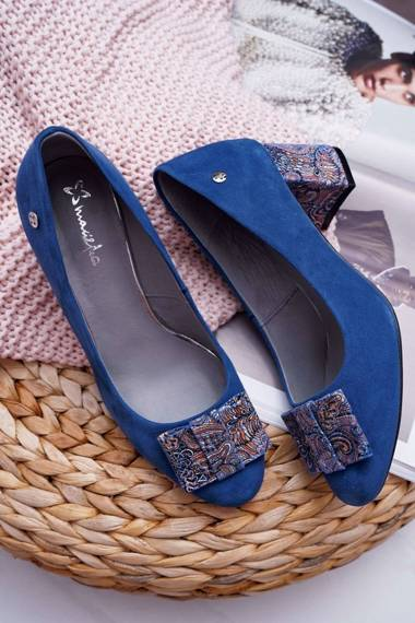 Women's Pumps Maciejka Suede Navy Blue