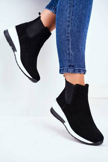 Women's Sport Shoes Sneakers Leather Black