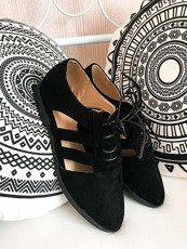 Black Cutout shoes Meggy