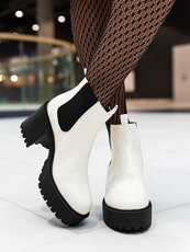 White Double Sole Chunky Chelsea Boot