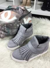 Grey Sneakers Fringe Magnetic