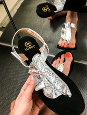 Silver Sandals Summer Shoes Wave