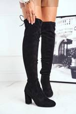 Women's High Boots Suede Black Highso
